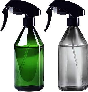 eSATO スプレーボトル アルコール対応 300ml 霧吹き 園芸 2個セット グリーン スモーク 遮光性 詰替えボトル ミストスプレーボトル