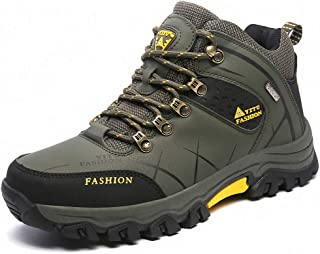 YoCool Men's Hiking Shoes Leather Waterproof for Outdoor Walking Climbing AU-8518