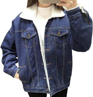 premium selection 1df9b b688c Amazon.it: giacca jeans con pelliccia - Giacche / Giacche e ...