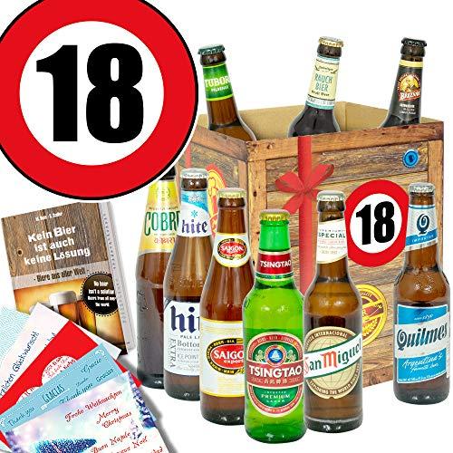 18. Geburtstag Geschenk für Freund/Biere der Welt/Bier Box