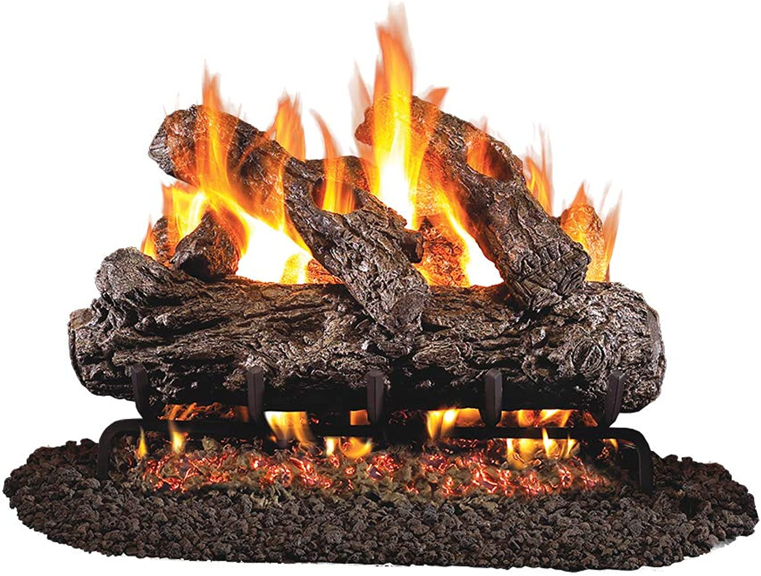 Peterson Real Fyre 18-inch Rustic Oak Gas Logs Only No Burner