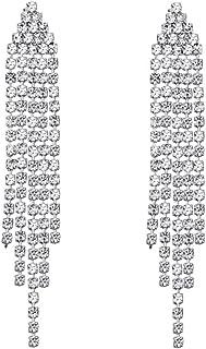 SELOVO Long Chandelier Tassel Dangle Earrings Party Jewelry Clear Austrian Crystal