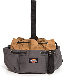 Dickies Work Gear 57004 Tan Dickies 12-Pocket Work/Tool Bag, Heavy-Duty Drawstrings for Quick-Closure, Snap-Secured Tape Strap, Durable Canvas Construction, Grey