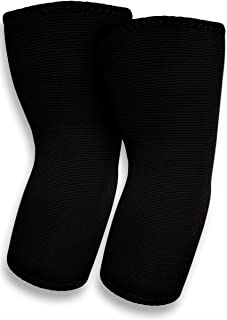 SB SOX Compression Elbow Brace (Pair) – Great Support That Stays in Place – for Tennis Elbow, Tendonitis, Arthritis, Golfers Elbow – Perfect for Weightlifting, Sports, Any Use