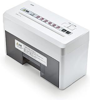 イーサプライ シュレッダー 家庭用 小型 電動マイクロクロスカット 静音 A4 連続使用8分 EZ4-PSD025