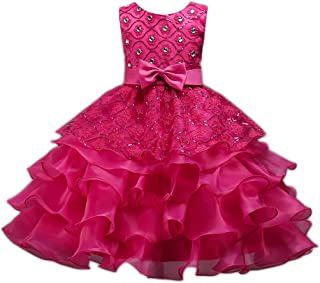 KISSOURBABY 2-14 Years Girl Party Wedding Pageant Special Occasion Dress