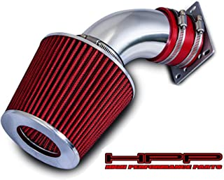 High Performance Parts Short Ram Air Intake Kit & Red Filter Combo Compatible for 1998-2001 Ford Ranger/Mazda B3000 3.0L V6 Engine