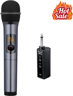 Wireless Microphone - Kithouse Bluetooth Microphone Wireless Karaoke Microphone Handheld Dynamic Mic - UHF Transmitter Receiver - Bus Car FM Radio Microphone For Karaoke Singing Church Speech, K380F