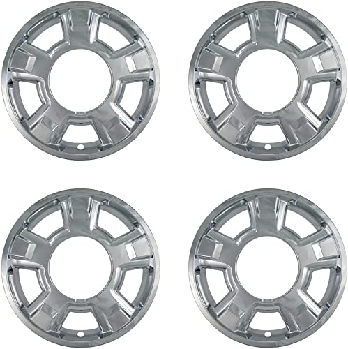 popular 17 wholesale inch Hubcap Wheel Skins for 2009-2014 Ford F150-(Set of 4) Wheel Covers- Car Accessories for 17inch Chrome Wheels- online Auto Tire Replacement Exterior Cap Cover online