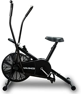 SPARNOD FITNESS SAB-06 Air Bike Exercise Cycle for Home Gym - Dual Action for Full Body Workout - Adjustable Resistance, H...