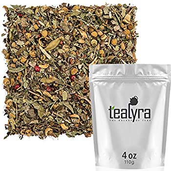 Tealyra - Tranquil Dream - Chamomile Honeybush Lavender - Calming - Relaxing - Herbal Loose Leaf Tea - Caffeine-Free - All Natural - 110g  4-ounce