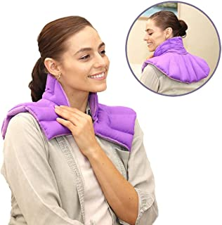 My Heating Pad - Microwave Heated Neck Wrap and Shoulder Heating Pad Reusable Large Heating Pad for Relieving of Sore Neck, Shoulder Pain, Upper Back Aches, Tensed Muscles & Joints Pain