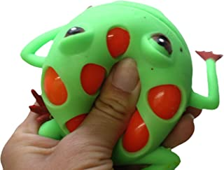 Curious Minds Busy Bags 1 Mesh Frog with Color Changing Gel Inside Squeeze Stress Ball - Sensory, Stress, Fidget Toy - Squishy Toy