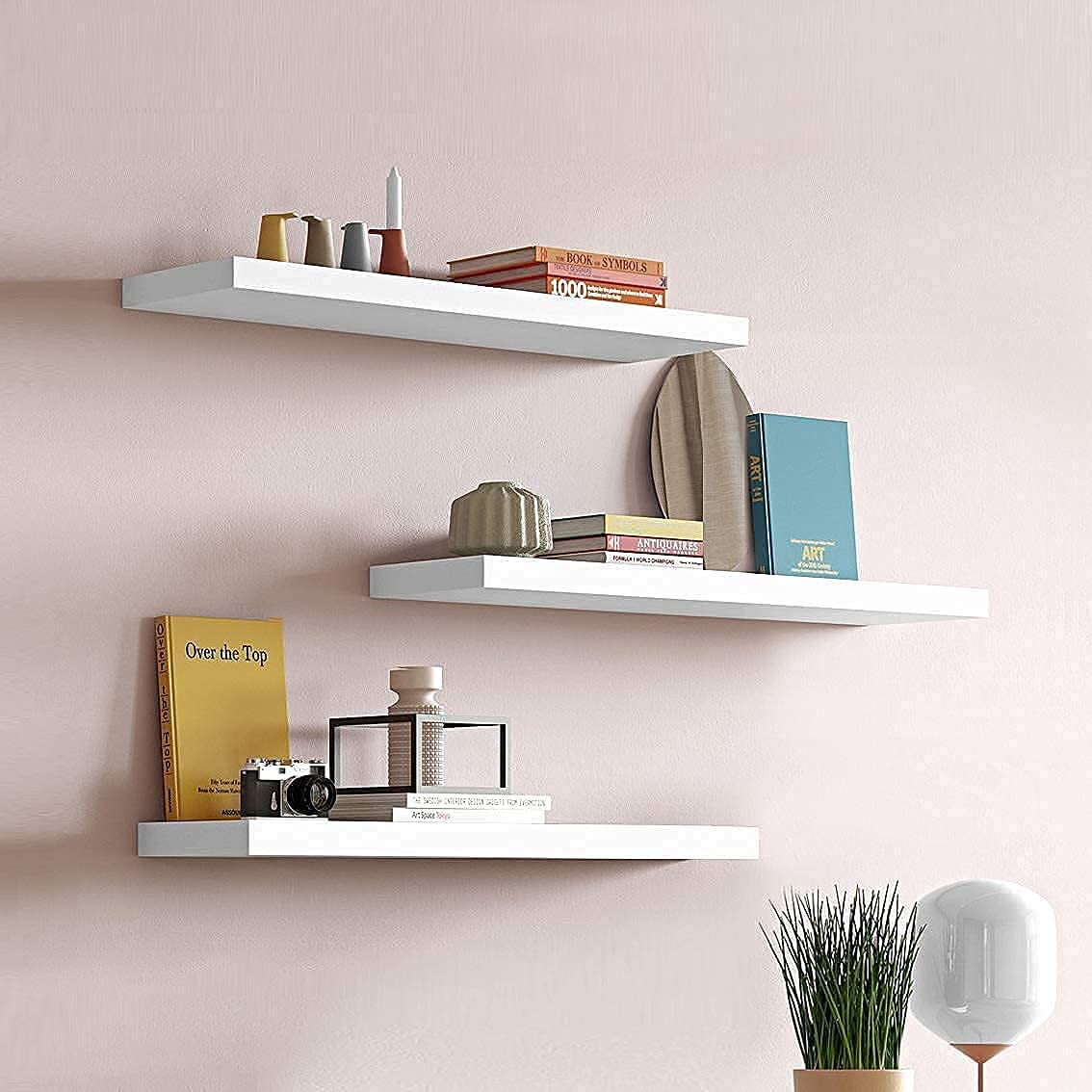 3 Pack White Floating Shelves Mounted Ranking TOP14 with Shelf Wall Invisible Max 61% OFF