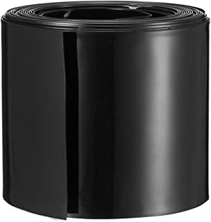 uxcell PVC熱収縮チューブ バッテリーラップ シュリンクラップ 幅56mm 長さ5M AAAシュリンクフィルム用 ブラック