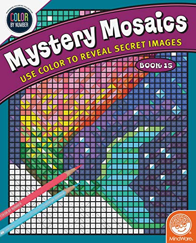 MindWare Color by Number Mystery Mosaics: Book 15