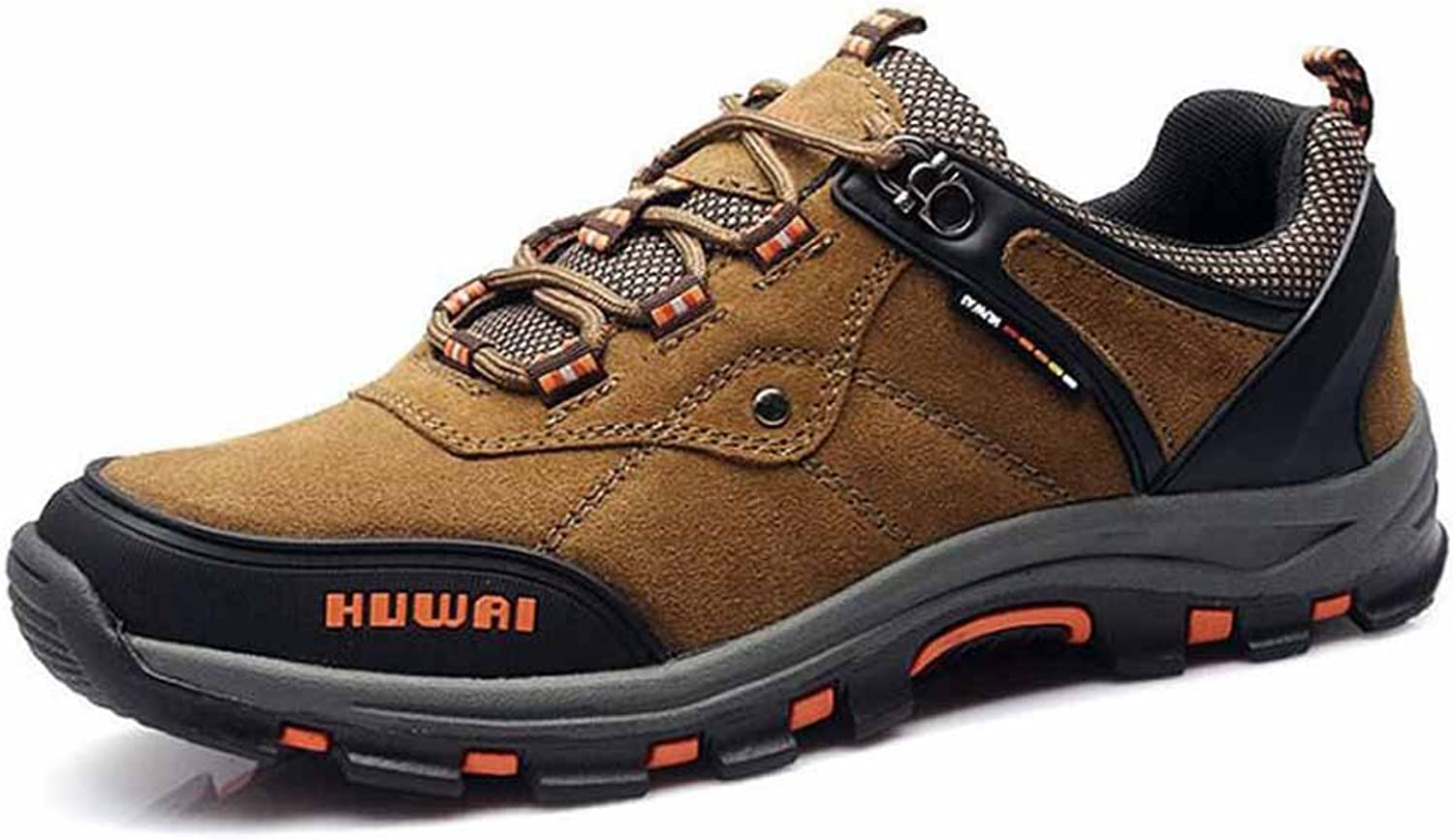 SHIXRAN Men Outdoor Climbing shoes Breathable Lace-up Hiking shoes
