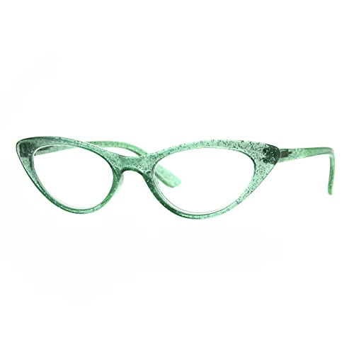 7eb0a8acb20 Womens Cat Eye Plastic Glitter Frame Reading Glasses