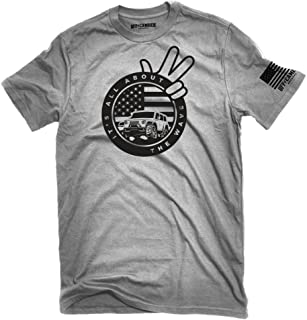 All About The Wave Jeep Wave T-Shirt Ash Gray Made in USA Offroad Tshirt
