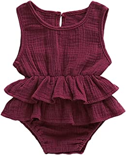 2019 Newborn Baby Girl Romper Bodysuit Outfit Cotton Romper Dress One Piece Toddler Girl Clothes