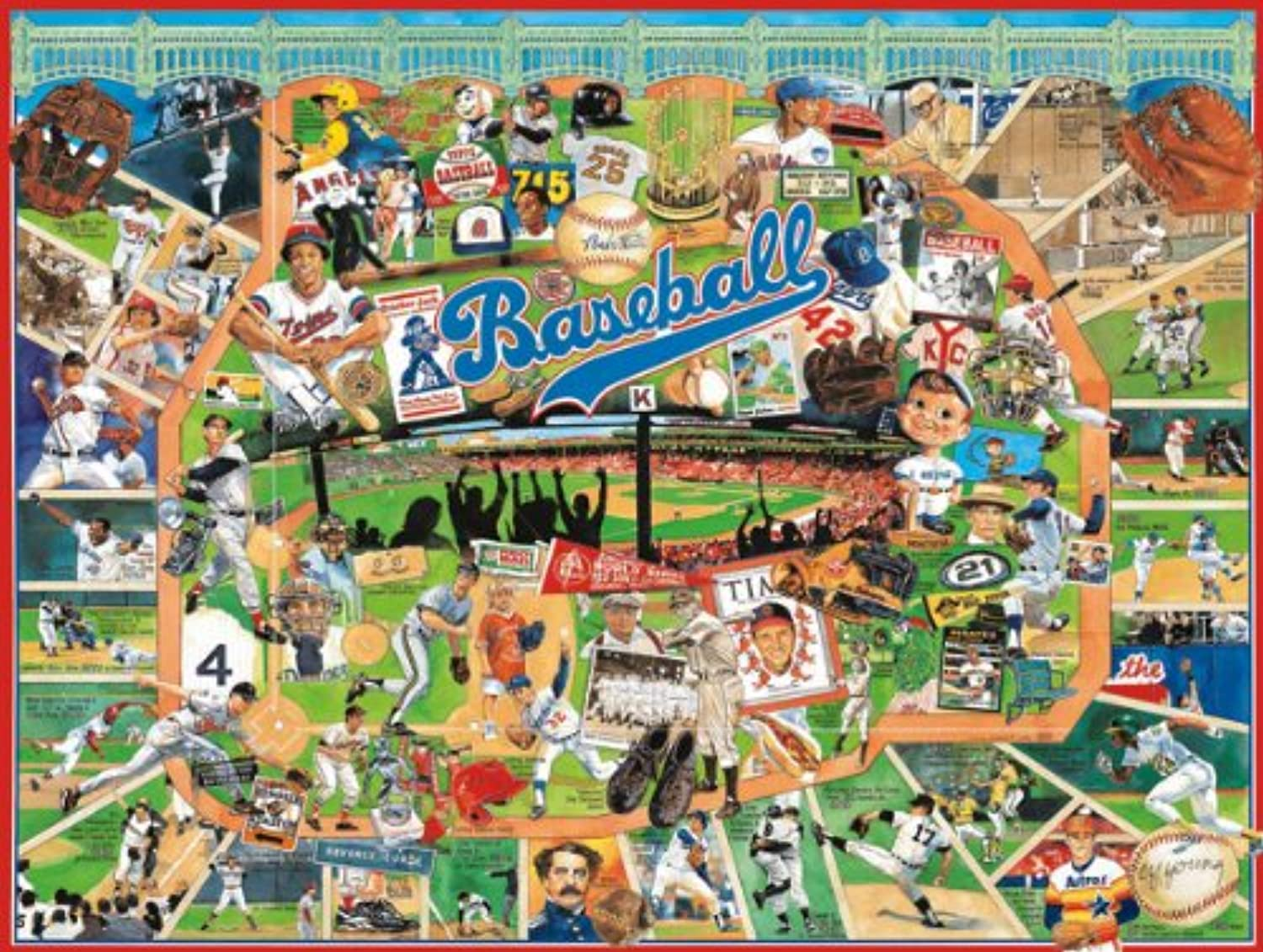 Jigsaw Puzzle 1000 Pieces 24 X30 -Baseball