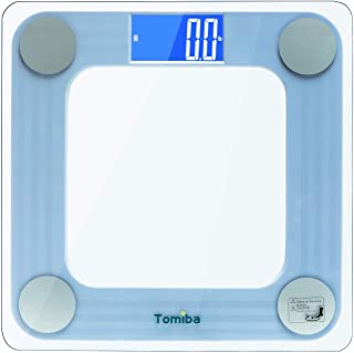 TOMIBA 550 Pounds Bathroom Scale High Precision Digital Body Weight with Step-On Technology and Easy-to-Read Backlit LCD