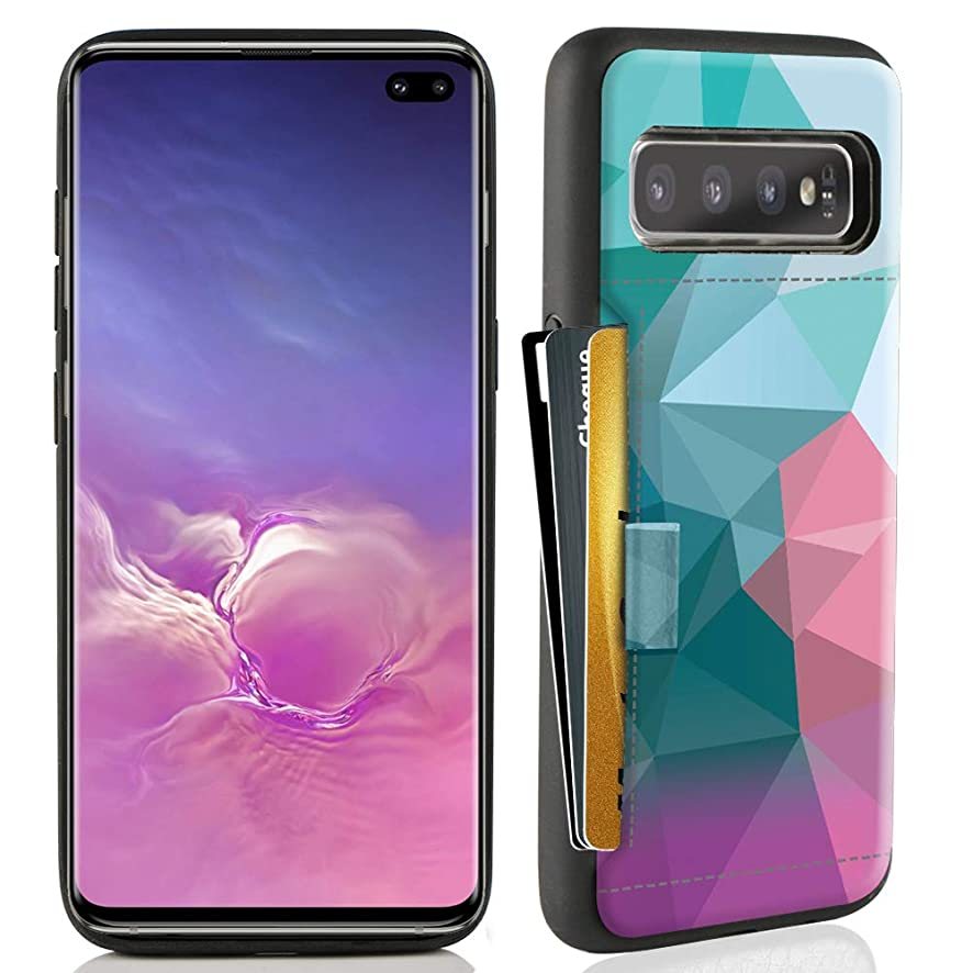 ZVE Case for Samsung Galaxy S10 Plus (2019), 6.4 inch, Case with Credit Card Holder Slot Slim Leather Pocket Protective Case Cover for Samsung Galaxy S10 Plus (2019), 6.4 inch - Diamond