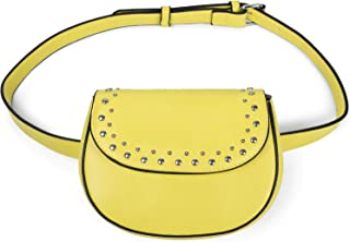 f8703f7e80 styleBREAKER Besace Versatile et Sac Banane pour Femmes, avec Rivets et  Fermeture à glissière,