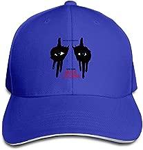 Alice Cooper Singer Songwriter Mask Logo Brim Hats Sandwich Bill Hats