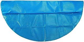 DressLksnf Fundas para Piscinas Cubierta Redonda de La Piscina Protector Azul Piscina Amor Corazón Tipo Anti-Evaporación Anti Corrosión Película Aislante de Piscina 122X122Cm (4 Pies)