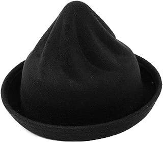 EUBUY Roll Brim Dura Cloche Bowler Hat Ice Cream Pattern Winter Billycock Witch Cap