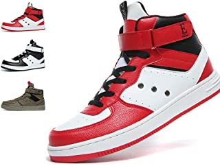 Mens High Top Sneakers Casual Lace Up Skateboard Shoes(Size:7-12M US)