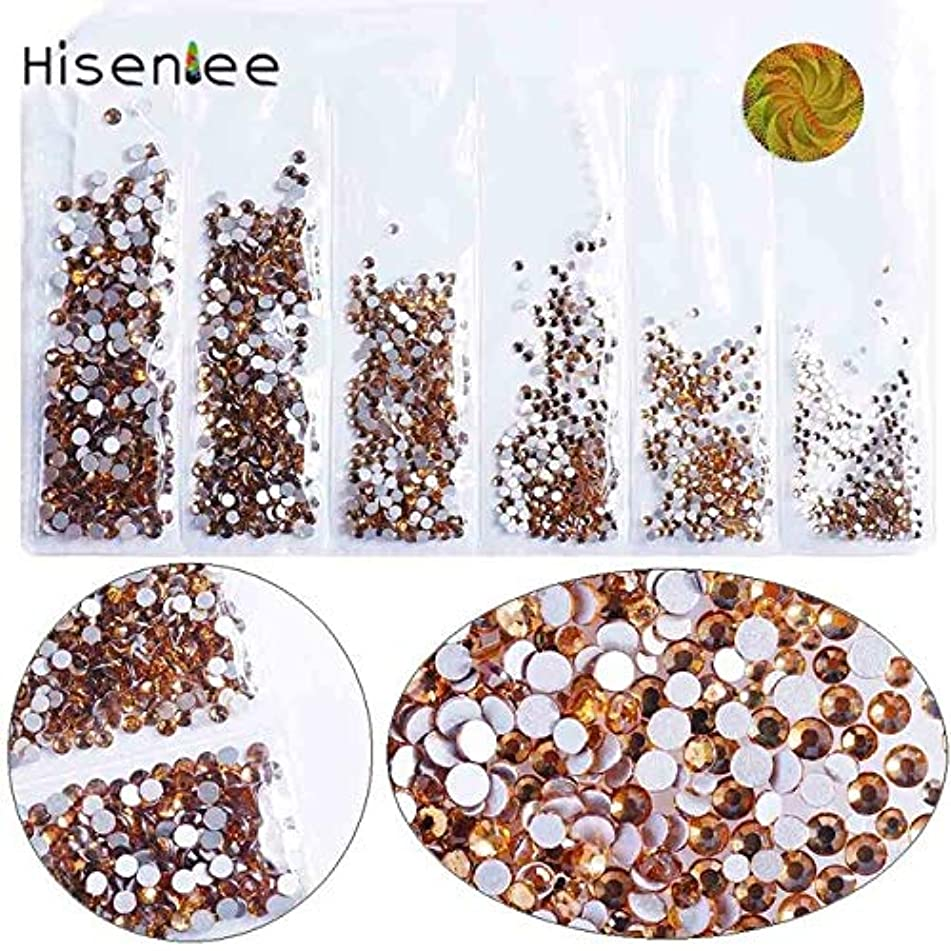 Nail Art Accessories - Nail Rhinestones And Charms Nail Gems And Rhinestones - Small Sizes Nail Crystal Glass Rhinestones For Nails 3D Nail Decoration Gems - light coffee