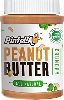 Pintola All Natural Crunchy Peanut Butter, 1Kg (Unsweetened, Non-GMO, Gluten Free, Vegan)
