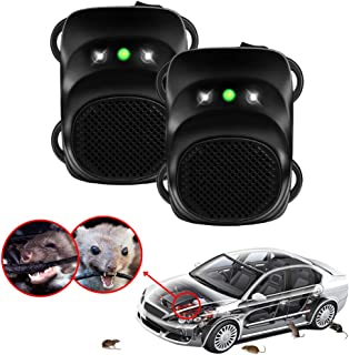 Loraffe Under Hood Animal Repeller Ultrasonic Rodent Repellent LED Rodent Strobe Light Ultrasound Device Vehicle Protection for Automotive, Lights to Keep Away Rats from Your Car Engine Garage