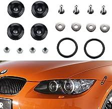 Dewhel JDM Quick Release Fastener Bumper Fender Trunk Hatch Screws Kit Set (Black)
