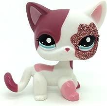 ZAD 2'' Pink White Sparkle Glitter Short Hair Cat Littlest Pet Shop LPS 2291