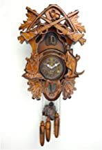 Vintage Look Cuckoo Clock - Hillside Chalet with Wonderful Animals Wall Art Home Living Room Kitchen Office Décor Wall Watch