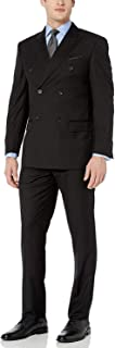 Men's Modern Fit Double Breasted Two-Piece Formal 100% Wool Suit