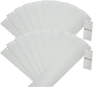 DALIX PVC Veritcal Blind Replacement Slats Curved Smooth White 82.5 x 3.5 (20-Pack)