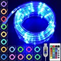 Heceltt LED Rope Light 100 LED 33ft 16 Colors Changing Waterproof Decorative Lights with Remote, USB Powered for Christmas Halloween Home Garden Porch Bedroom Indoor Outdoor Wall DIY Decorations
