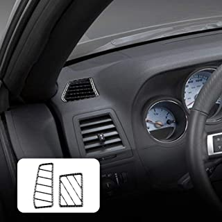 AIRSPEED Carbon Fiber Car Side Air Outlet Stickers for Dodge Challenger 2008 2009 2010 2011 2012 2013 2014 Accessories