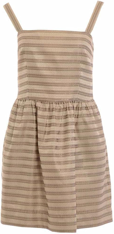 Rachel Roy Women's Metallic Stripe Sleeveless Party Dress