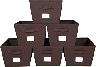 MAX Houser Storage Bins Cubes Baskets Containers with Dual Handles for Home Closet Bedroom Drawers Organizers,Foldable,Set...