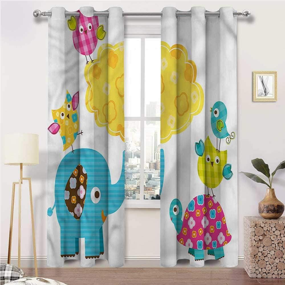 Interestlee Kids Curtains Nursery Window for Windows Max 90% OFF Jacksonville Mall Drape Home