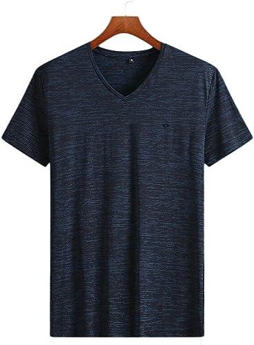 PFSYR T-Shirt à Col en V à Manches Courtes pour Hommes