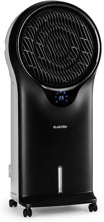 Raffrescatore evaporativo, ventilatore, umidificatore, 3in1, flusso d`aria: 1600 m³/h, serbatoio: 5,5 litri B074QQBZRL