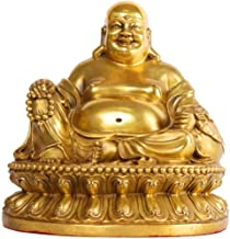 Home Accessories Buddha Statue, Gifts&Decor Sitting Buddha Feng Shui Figurine Wealth and Good Luck for Home Office Decorat...