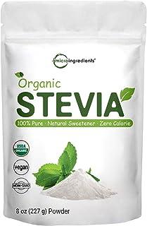 Pure Organic Stevia Powder, 8 Ounces, 1418 Serving, 0 Calorie, Natural Sweetener, Sugar Alternative, Premium Stevia for Ke...