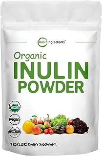 Organic Inulin FOS Powder (Jerusalem Artichoke), 2.2 Pounds (35 Ounce), Inulin for Baking, Prebiotic Intestinal Support, C...